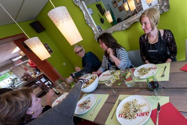 eten tijdens Kenwood workshop